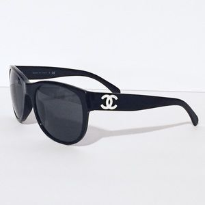 Chanel 5182 black white CC sunglasses